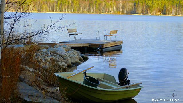 Аренда коттеджа в Финляндии от Яаны и Юсси лодка