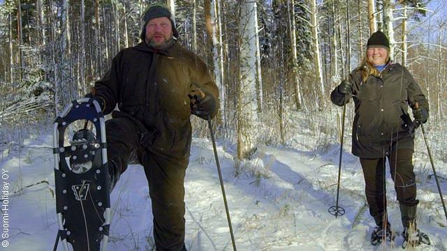Финская заимка от Эско и Леены снегоступы