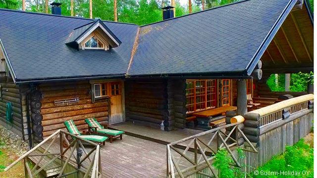 Финская заимка от Эско и Леены терасса