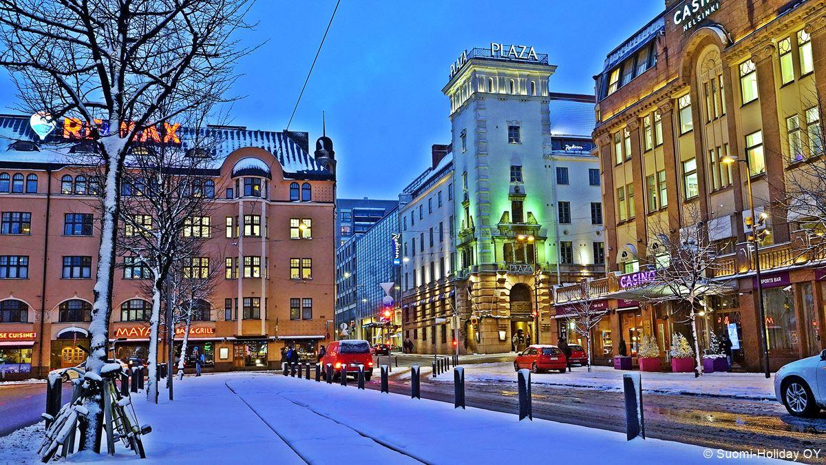 Radisson Blu Plaza Hotel in Helsinki next to railway station