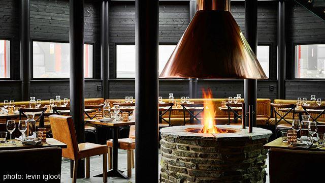 Levi Igloos Restaurant Aurora Sky