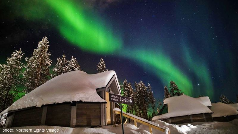 Northern Lights Village Aurora Borealis view