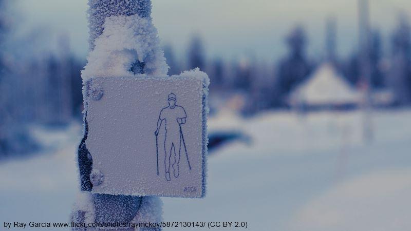 Rovaniemi ski track sign