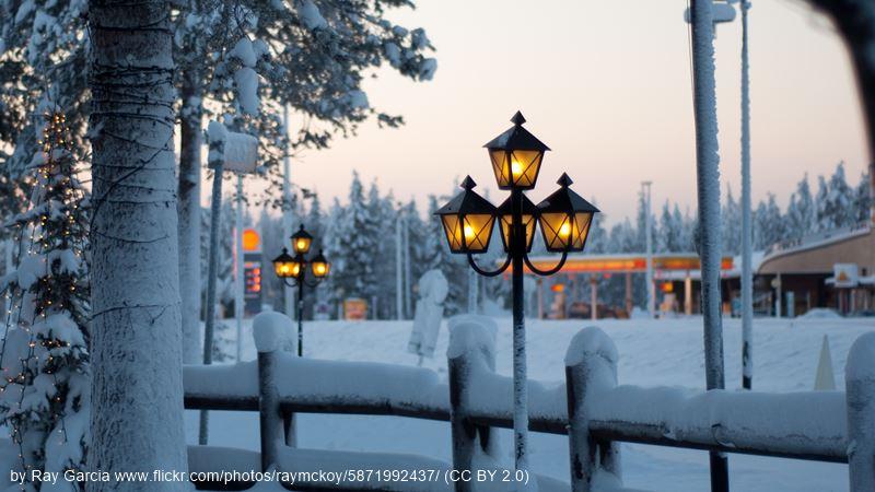 Rovaniemi vintage street lamp