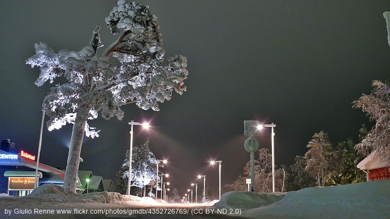 Saariselka by night