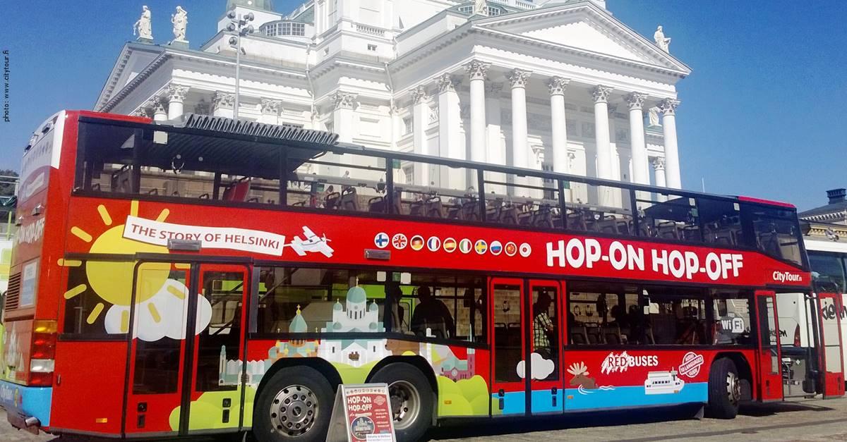 Helsinki Bus city tour - Hop on Hop off excursions - HOHO bus Helsinki.