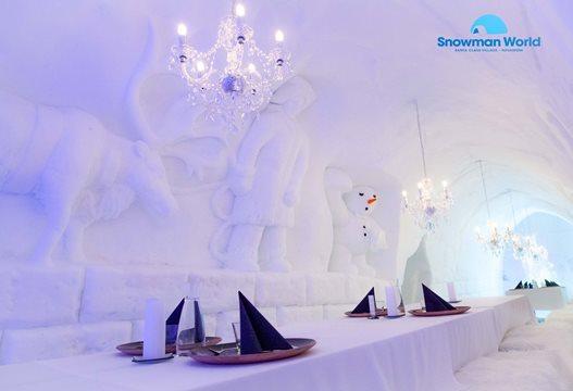 Snowman ice restaurant